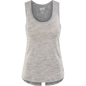 super.natural Motion Slash Neck Top Women, ash melange